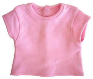 Pink Cap Sleeve T-Shirt for Bitty Baby Doll Clothes Snap Closure