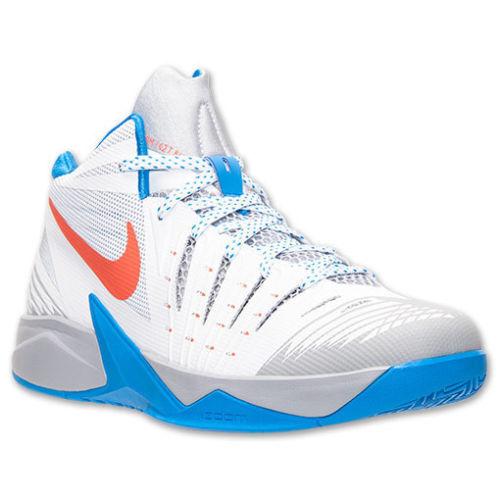 Men's Nike Zoom I Get Buckets Basketball shoes, 643300 100 Size 12 White orange