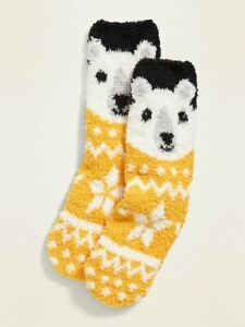 Polar Bear Fuzzy Cozy Socks Bears Women/'s New with tags Old Navy