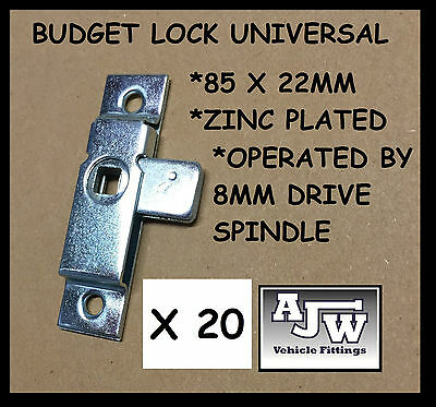 20 x Budget Lock Universal 85 x 22mm T Key Handles Horseboxes Coach Bus Trailer