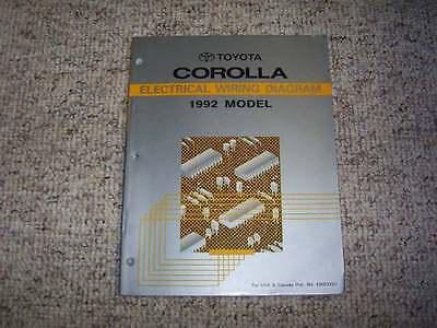 1992 Toyota Corolla Electrical Wiring Diagram Manual ...