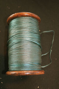 25-YARD-LENGTH-OF-TEAL-1-8-IN-DEADSTOCK-1930-039-S-SILK-RIBBON