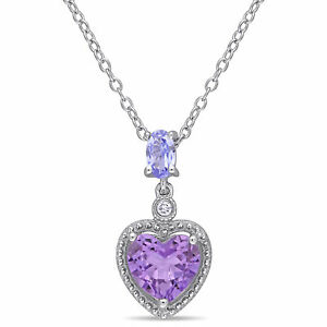 Amour-Sterling-Silver-Tanzanite-Amethyst-and-Diamond-Necklace