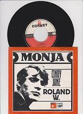 """7"""" Single - Roland W. Monja - Cindy Jane - Cornet 3025 Germany"""