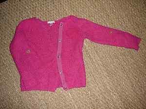 Gilet-cardigan-veste-Rose-fille-6-ans-Verbaudet-coton-angora-Neuf