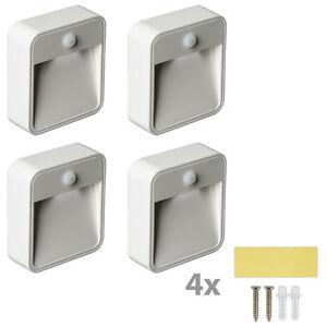 4x led sensor nachtleuchte bewegungsmelder nachtlicht batterie nachtlampe ebay. Black Bedroom Furniture Sets. Home Design Ideas