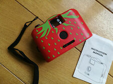 Plastic fantastic Holga / Toy style 35mm film camera - red strawberry