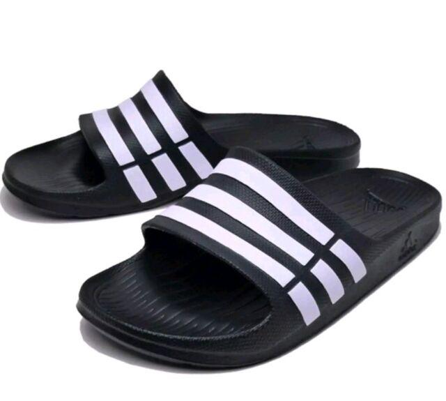 0804bff505997 Adidas duramo slide G15890 black white slides sandals flip flops shower gel