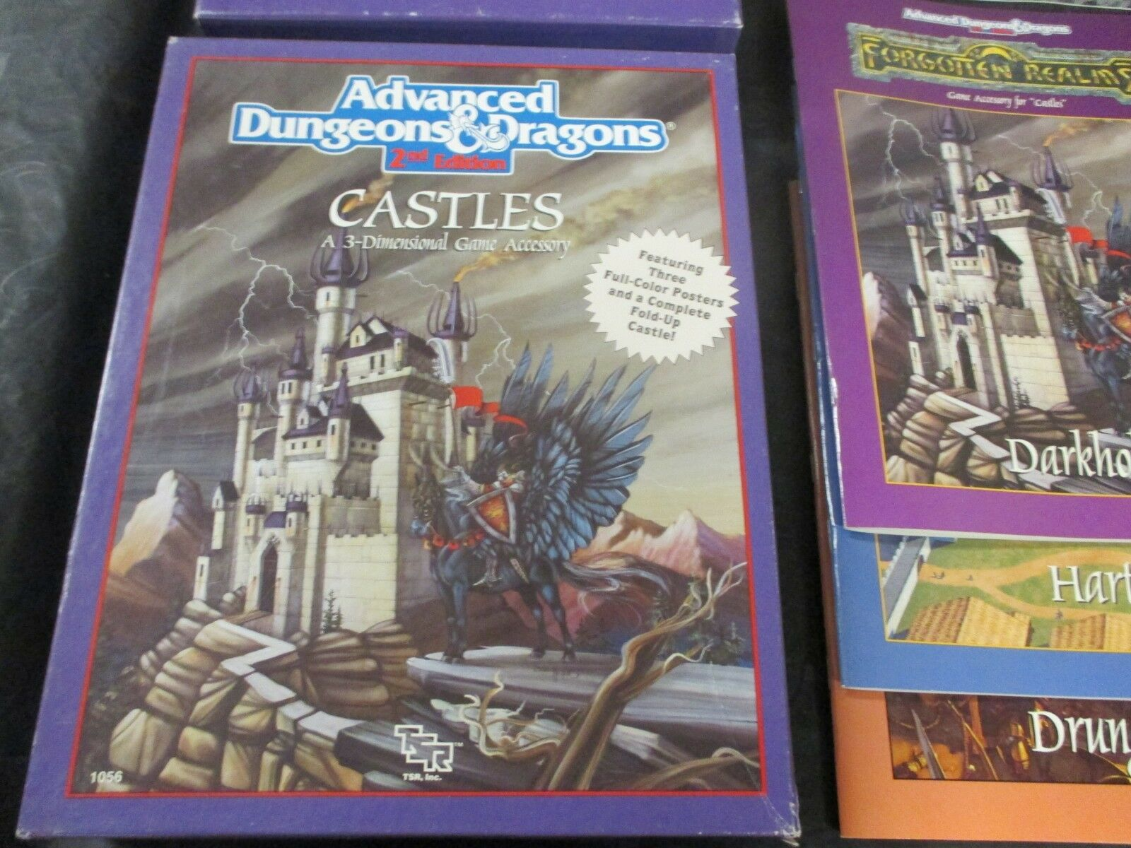 advanced dungeons & dragons   dragons burgen  2.0   1056   zubehör verwendet. 0880f0