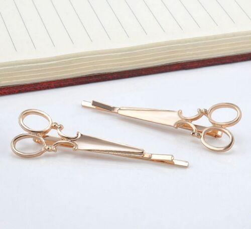 2PCS Chic Korean Style Women Scissors Shape Hair Clip Hair Pin Hair Accessories