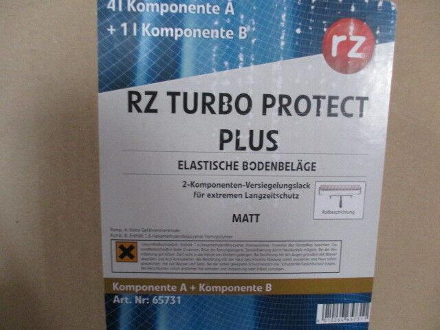 (39,--  l) RZ Turbo Protect Plus matt 4 + 1 Liter  für elastische Bodenbeläge