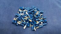 14-16 GAUGE 100 PK VINYL BLUE QUICK DISCONNECT FEMALE .110 TERMINAL CONNECTOR