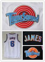Lebron James 6 Space Jam Jersey White Black Basketball Jerseys Tune Squad Jersey