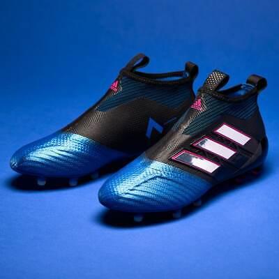 ADIDAS ACE 17+ purecontrol FG Uomo Scarpe Da Calcio Nero Blu Lacci BB4312 | eBay