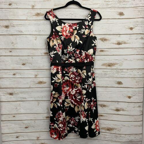White House Black Market Floral Belt Career Dress