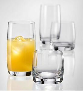 GLASSWARE-SET-drinking-glasses-Bohemia-Crystal-6X-highball-6X-tumblers-IDEAL