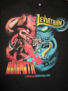 Details about Canadas Wonderland LEVIATHAN vs BEHEMOTH Ride to Decide MED  Shirt Roller Coaster