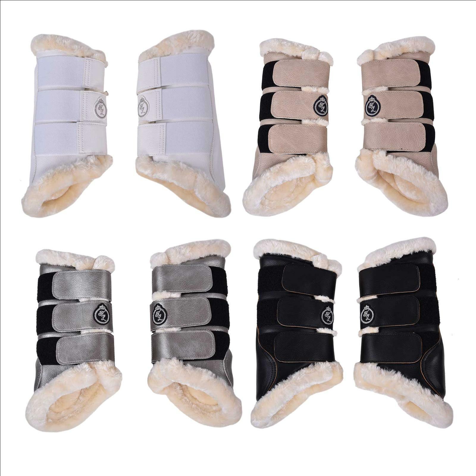 Kingsland piel sintética-polainas  KL _ barels  delanteras, 2er-pack botas