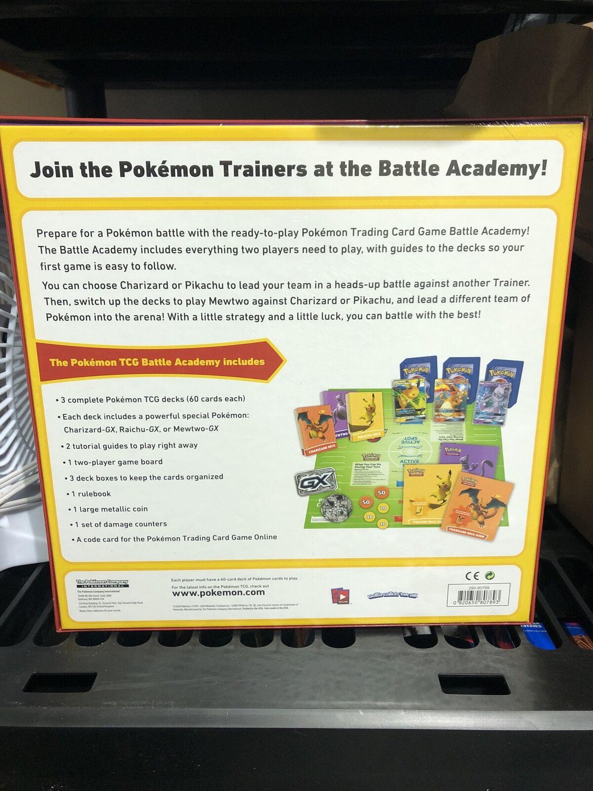 Pokemon TCG Battle Academy Box Factory Sealed Pokemon Trading Card Game
