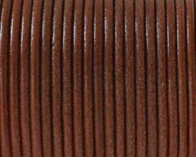 De 5 a 90 metros Cordon cuero autentico 2,5mm NATURAL MARRON CLARO CC25-01