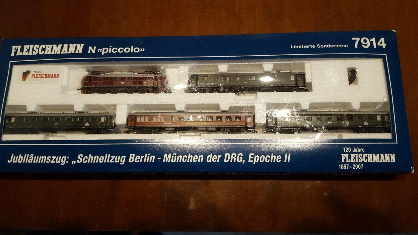 Fleischmann Piccolo N - 7914 - Jubiläumausgabe Schnellzugset Berlin-München.