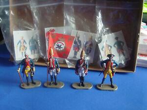 Preiser-Figuren-Konvolut-4-Preussische-Soldaten-7-cm-top-schoen-selten