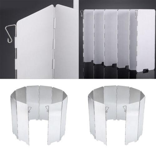 20pcs Folding Windshield Plates Camping Kitchen BBQ Stove Picnic Wind Screen