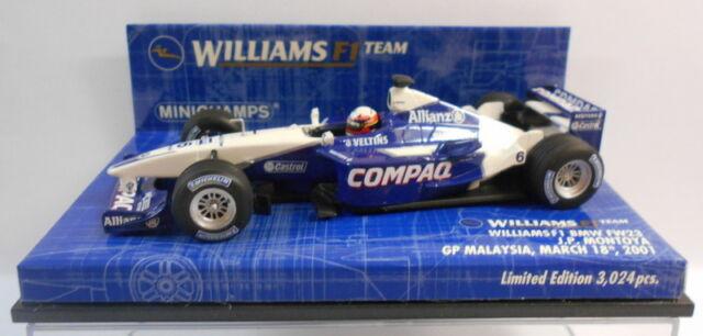 Williams BMW FW23 J.P.Montoya GP Malaysia 2001 400010026 1//43 Minichamps