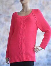 NWOT Kohls APT 9 Sz Woman 0X Tunic Sweater Hot Pink 100% Acrylic Machine Wash