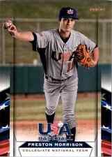 (10) 2013 Team USA Baseball PRESTON MORRISON Card LOT #16 Cubs QTY