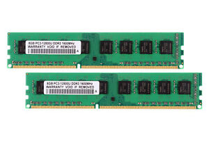 16GB 2X 8GB DDR3 PC3-12800U 1600MHz CL11 DIMM Desktop Memory For AMD Chipset New