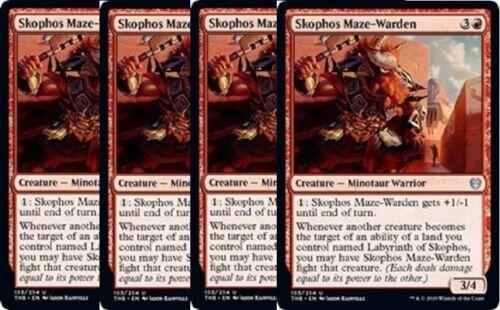 4x Skophos Maze-Warden NM Theros Beyond Death Red Uncommon