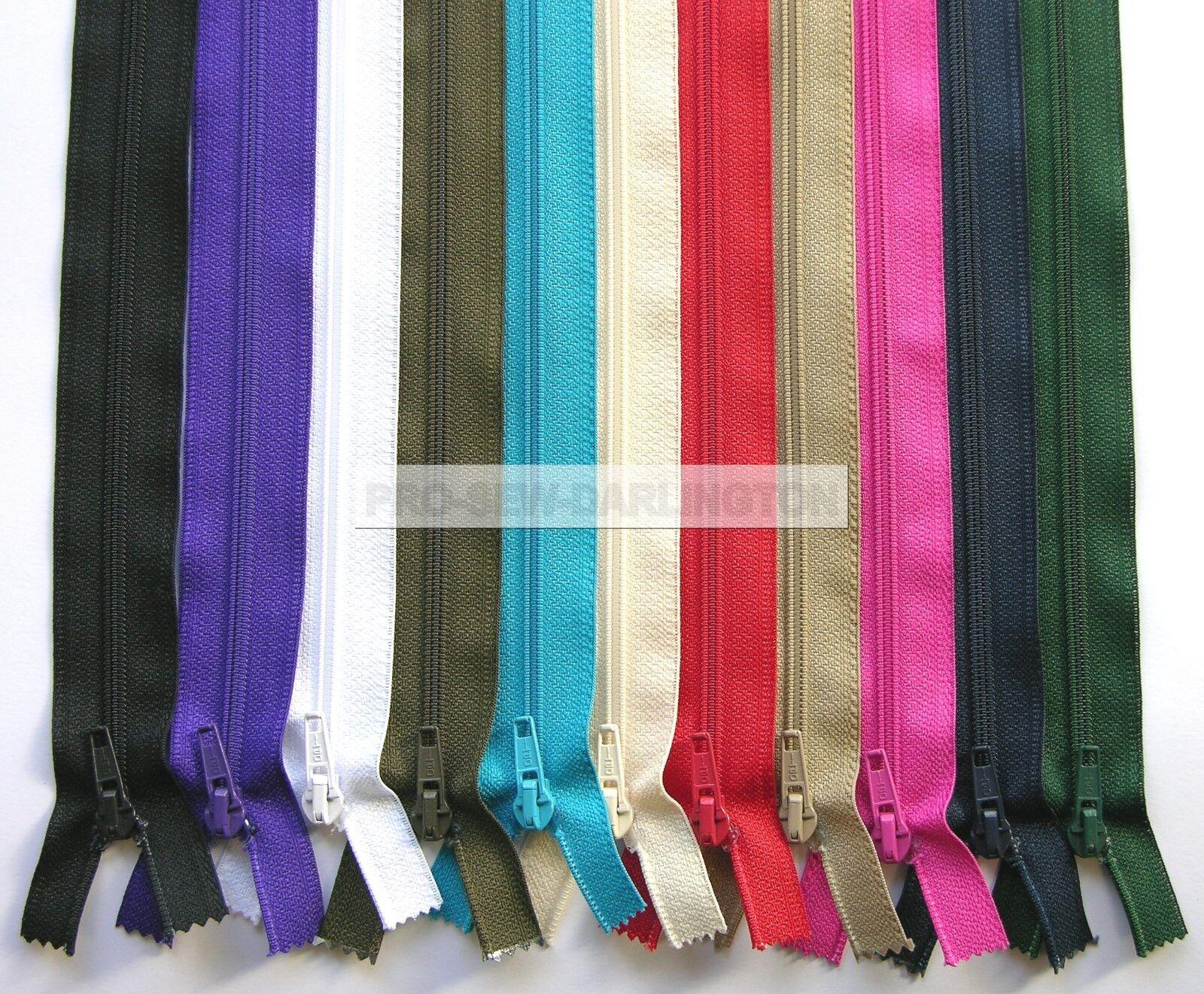 65 75 80cm  Zips Zippers Jacket Red Black Navy Waterproof Zip Open End 60 70