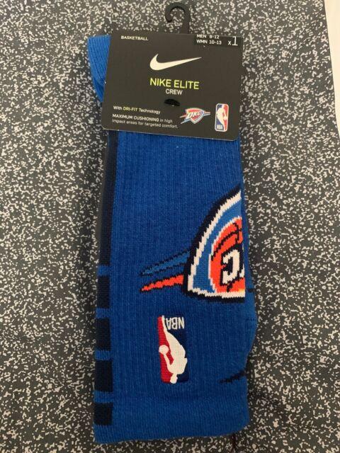 online store 4928a 11027 Nike Basketball Oklahoma City/okc Thunder Elite Crew Socks Sx7603 728 Mens  Large