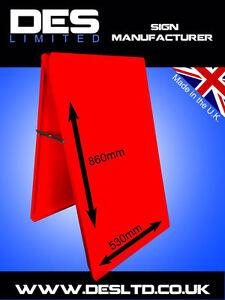 Budget-PO-Red-Steel-Metal-A-Board-Pavement-Menu-Sandwich-Advert-Sign-Cheap