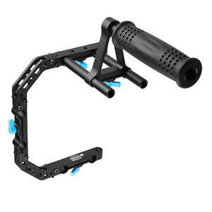 FOTGA-DP3000-C-Shape-Camera-Cage-Bracket-Top-Handle-Grip-for-15mm-Rod-DSLR-Rig