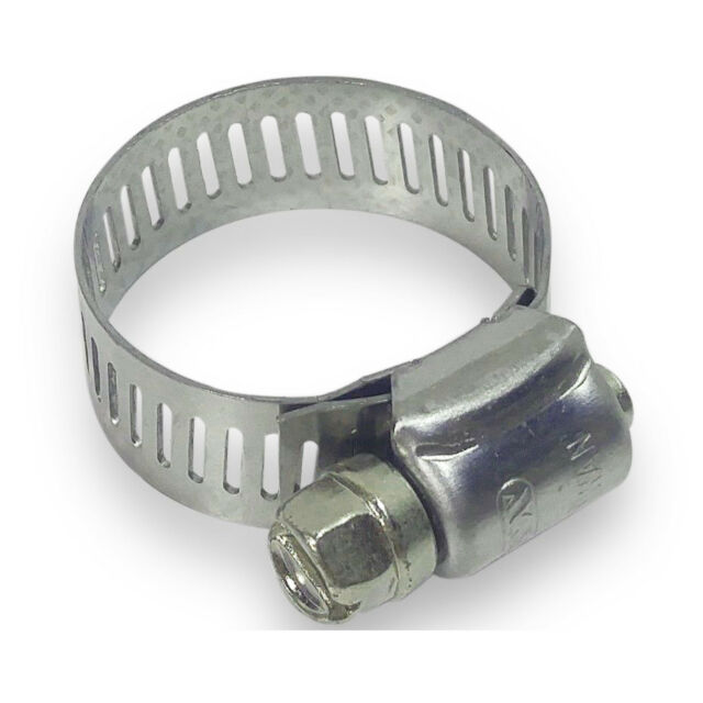 """7//16/""""  to 25//32/"""" 100 Pc Stainless Steel Hose Clamp #6"""