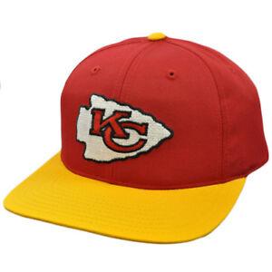b3eeb3caf3dbd4 NFL Kansas City Chiefs Red Yellow Vintage Retro Deadstock Snapback ...