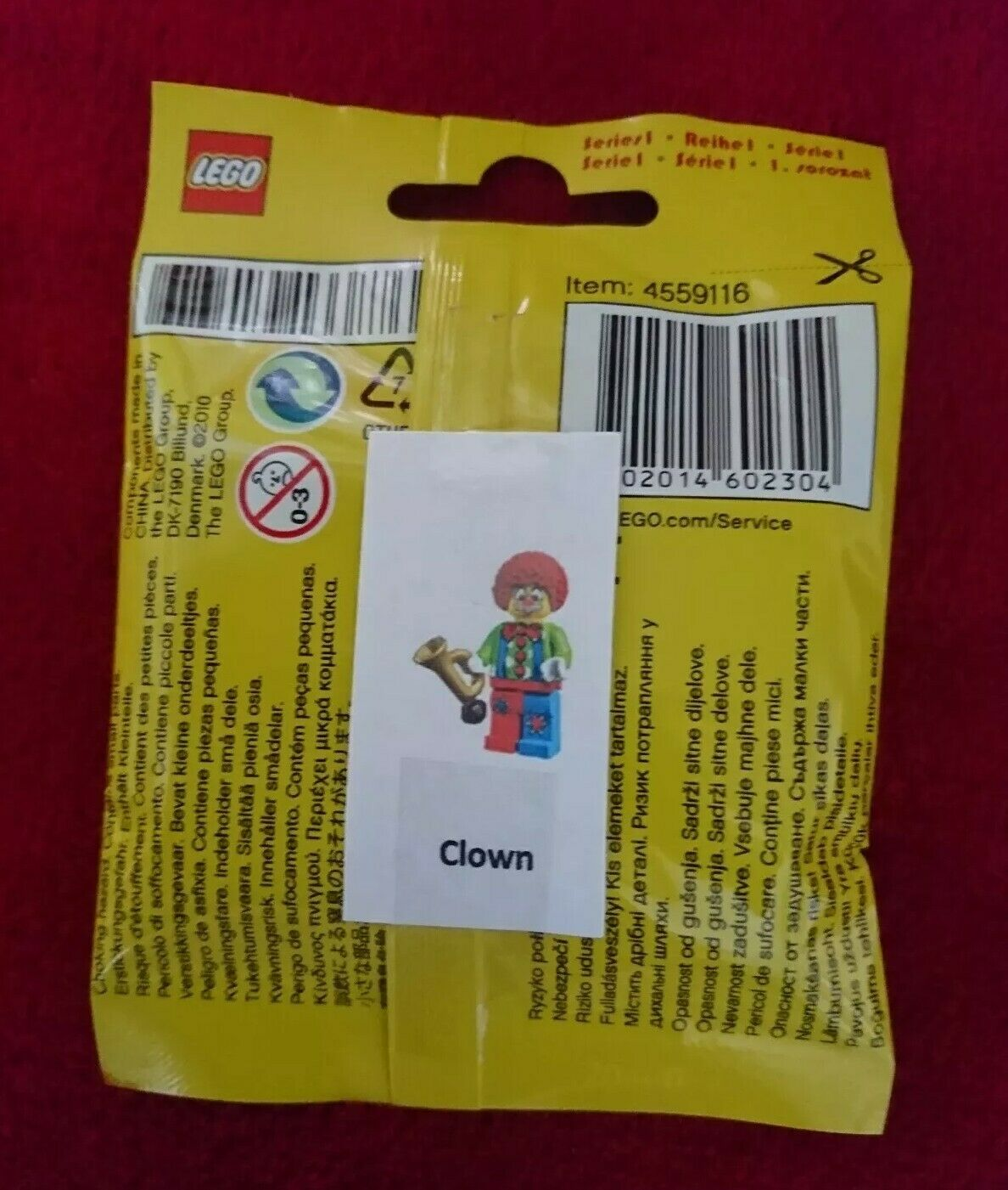 LEGO 8683 SERIES 1  CIRCUS CLOWN  Minifigure Rare New Factory Sealed Collectable