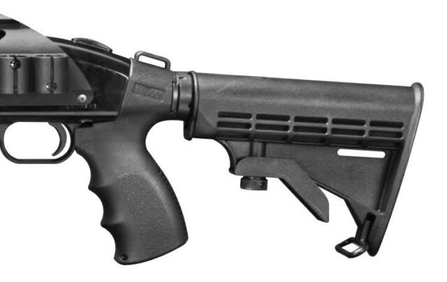 12 Gauge Fits Maverick 88 6 position Stock TRI RAIL Shotgun Pistol Grip