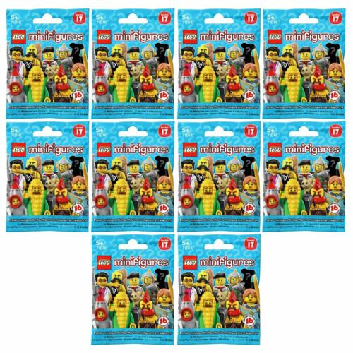 New 10 PACKS LEGO Series 17 Minifigure Blind Bags Mystery Figures Official