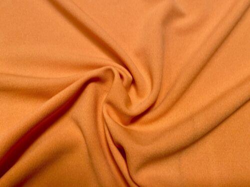 Per Metre Orange Lycra Crepe Jersey Knit Stretch Dress Fabric