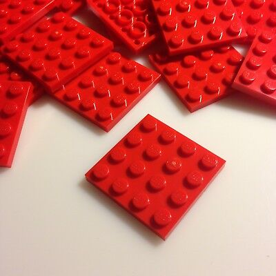£3.99 LEGO 3020-25 Brand NEW RED 2x4 Plates Per Order