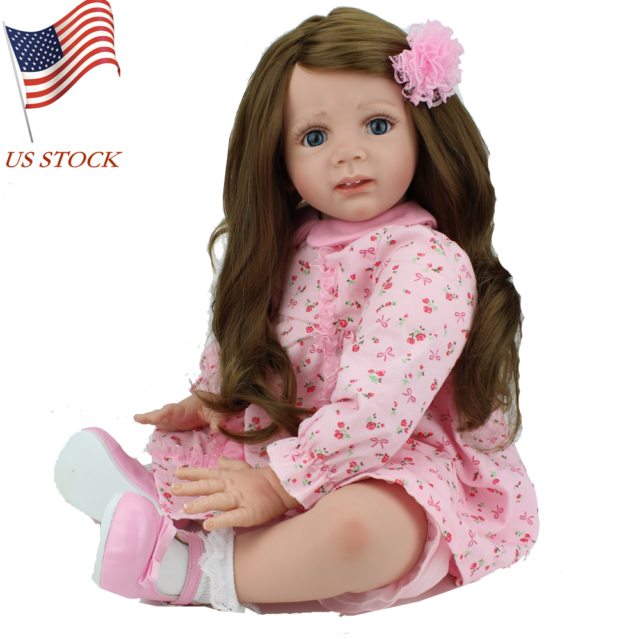 """24/""""Handcraft Reborn Baby Doll Realistic Real Looking Girl Newborn Dolls+Clothes"""