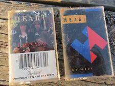 2 LOT Cassette Tape HEART Brigade & Little Queen