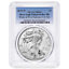 2019-W-Reverse-Proof-1-American-Silver-Eagle-PCGS-PR69-Pride-of-Two-Nations-U-S miniature 1