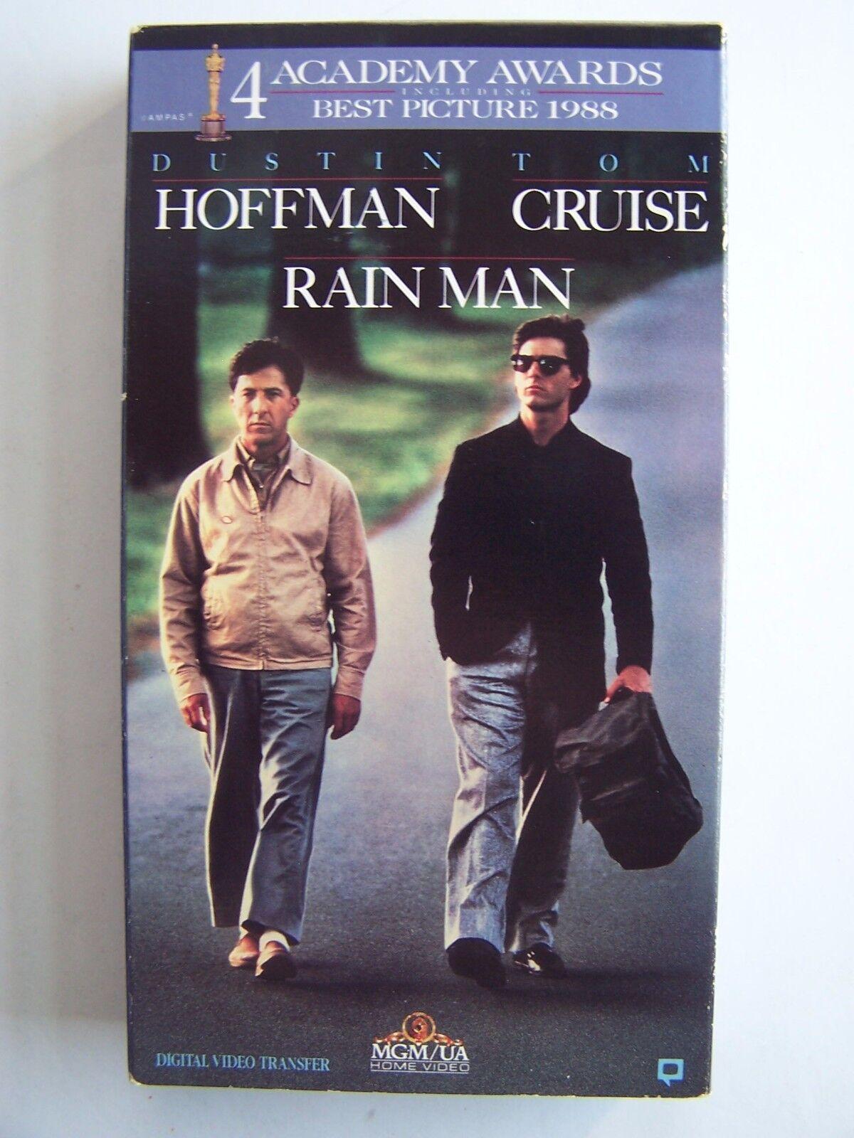 Rain Man VHS Tom Cruise Dustin Hoffman Academy Award Wi