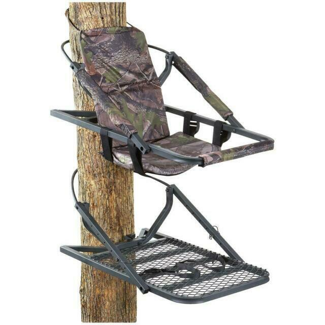 Extreme Deluxe Climber Tree Stand Durable Padded Armrests Cl