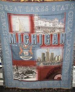 Bedding Indiana The Hoosier State Woven Tapestry Throw Blanket Wall Hanging Indy 500 B14