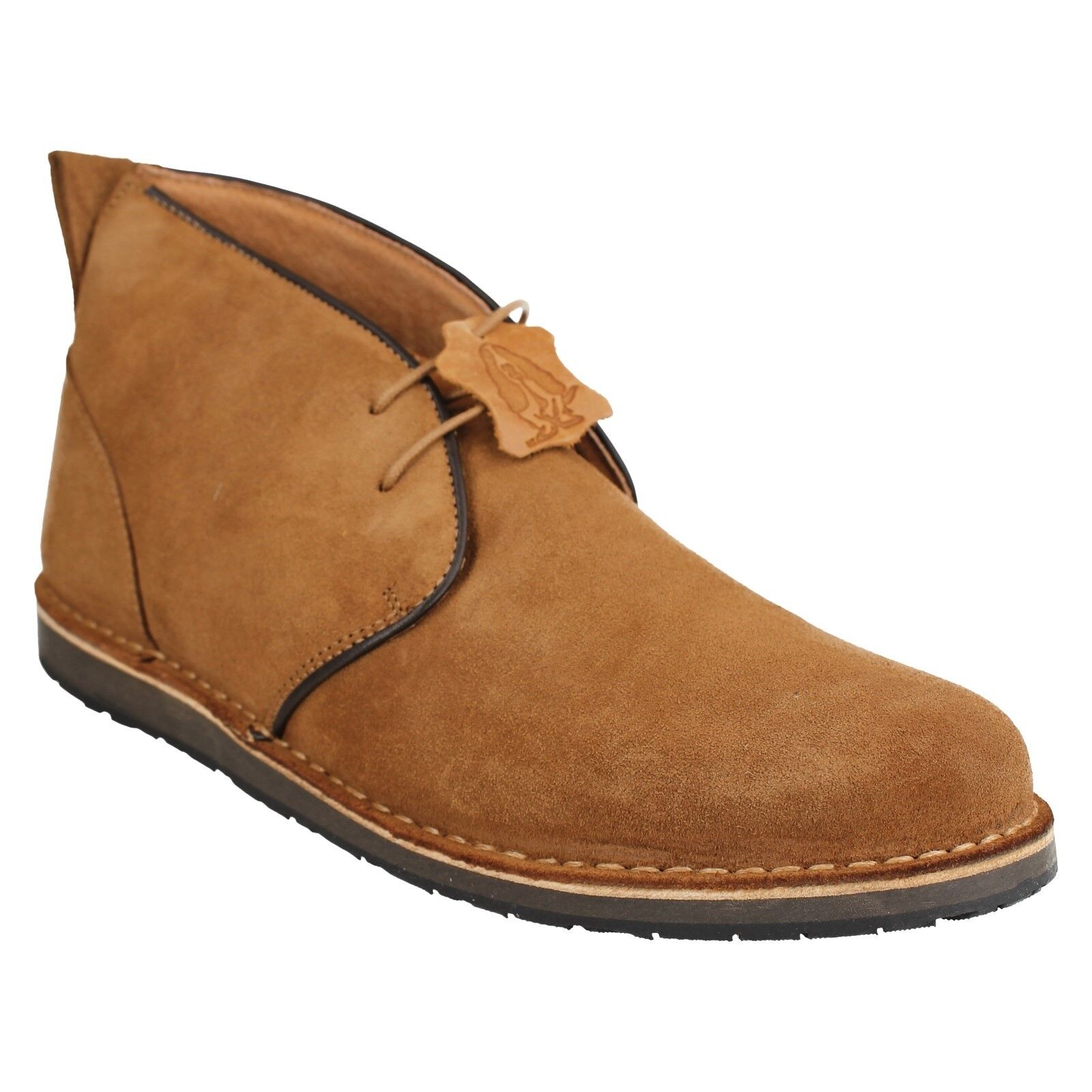 MENS HUSH PUPPIES BARRICANE HERITAGE PLAIN TAN BROWN LACE UP SMART ANKLE BOOTS